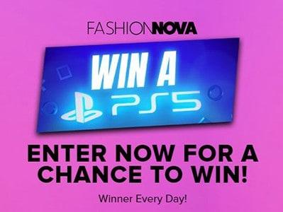 Win a PlayStation 5 from Fashion Nova