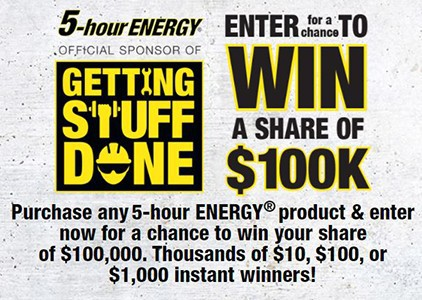 Win a Share of $100K from 5-Hour Energy