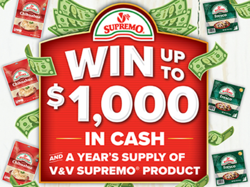 Win $1,000 from V&V Supremo