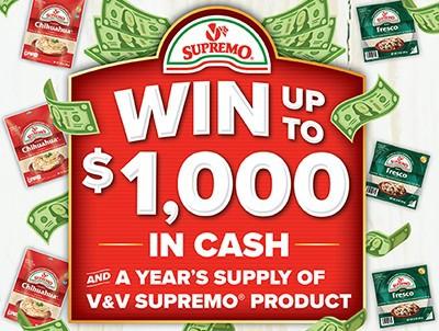 Win $1,000 from V&V Supremo