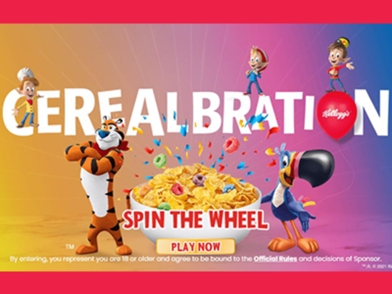 Win Kellogg's Cereal or a Kroger Gift Card