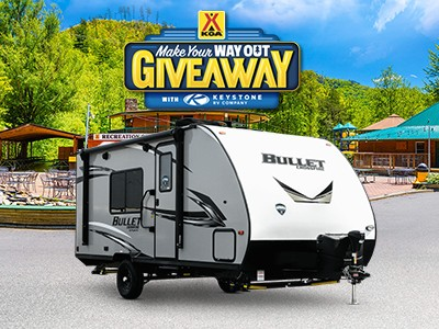 Win a 2021 Keystone Bullet Crossfire Travel Trailer