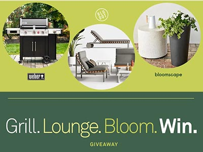 Win a Weber Smart Grill, Blu Dot Shopping Spree, and Bloomscape Plants