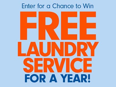 Win Free Laundry Service for a Year