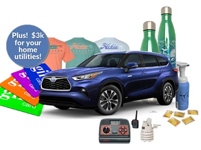 Win $3K for Home Utilties + Toyota Highlander for Charity