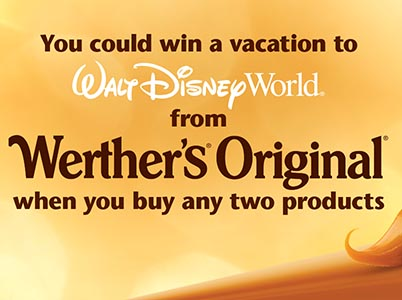 Win a Walt Disney World Vacation from Werther's Original