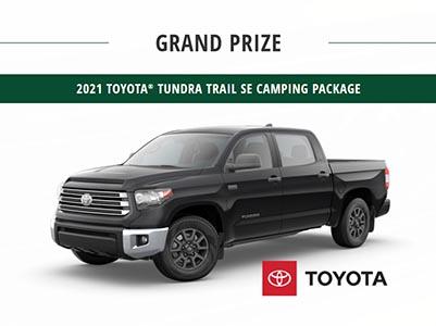 Win a 2021 Toyota Tundra Trail SE Truck