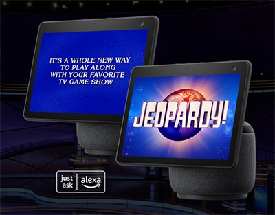 Win an Amazon Echo Show 10 Daily from Jeopardy!