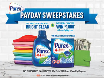 Win a $1,000 Gift Card from Purex