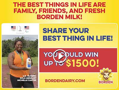 Win a $1,500 VISA Gift Card from BORDEN