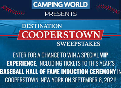 Win a VIP Cooperstown Experience from Camping World