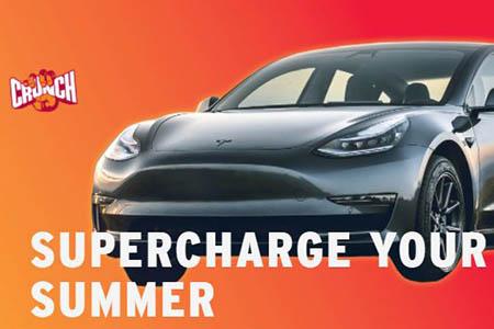 Win a Tesla Model 3 from Crunch