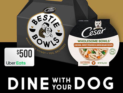 Win a $500 Uber Eats Gift Card + 1-Year Cesar Bowls