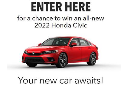 Win an All-New 20022 Honda Civic