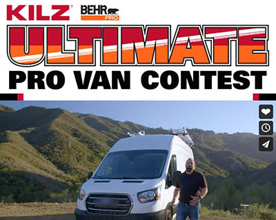 Win a 2020 Ford Transit 350 Cargo Van from KILZ