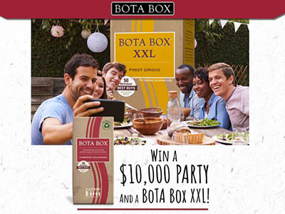 Win a $10,000 Party + Bota Box XXL