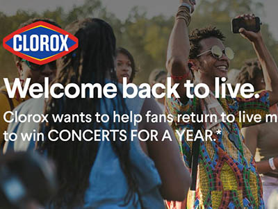 Win Concerts for a Year from Clorox