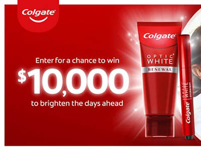 Win $10,000 from Colgate