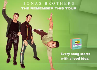 Win a Trip to the Jonas Brothers from Post-it