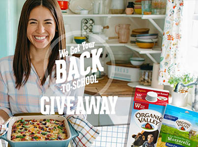 Win a School Night Meal Kit from Organic Valley