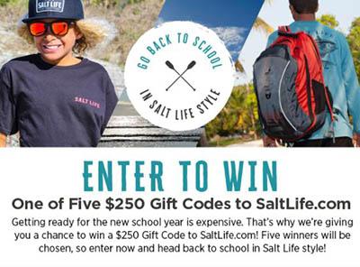 Win a $250 Salt Life Gift Code