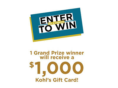 Win a $1,000 Kohl's Gift Card