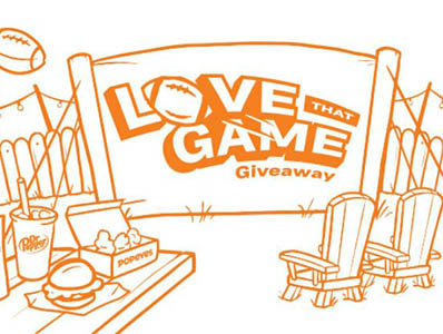 """Win $9,000 Cash + 65"""" LED TV from Popeyes"""