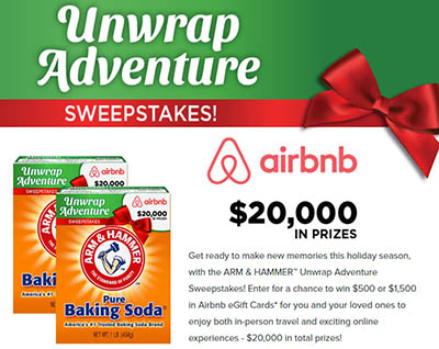 Win a $1,500 Airbnb from Arm & Hammer