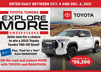 Win a 2022 Toyota Tundra TRD from Bassmaster
