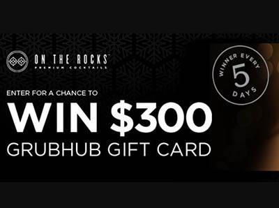 Win a $300 GrubHub Gift Card from OTR