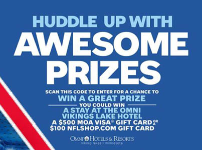 Win a Mall of America or NFLshop Gift Card