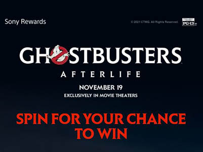 """Win 65"""" BRAVIA 4K TV + PS5 + Ghost Busters Merch"""